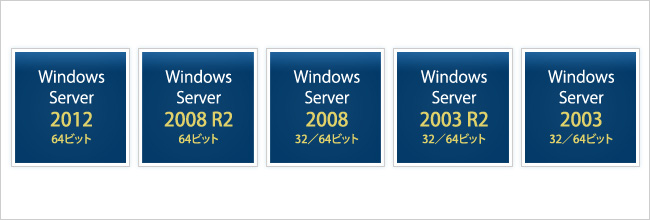 対応Windows Server OSの一覧