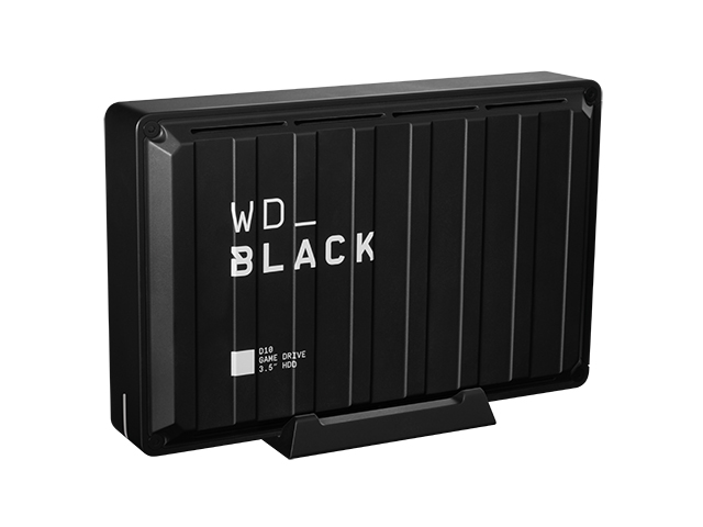 WD_Black D10 Game Drive 右振り斜め/天面あり